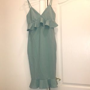 Stretchy mint colored event dress